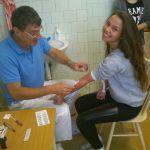 Študentská kvapka krvi 13. november 2014 - otec a dcéra