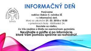 Informačný deň